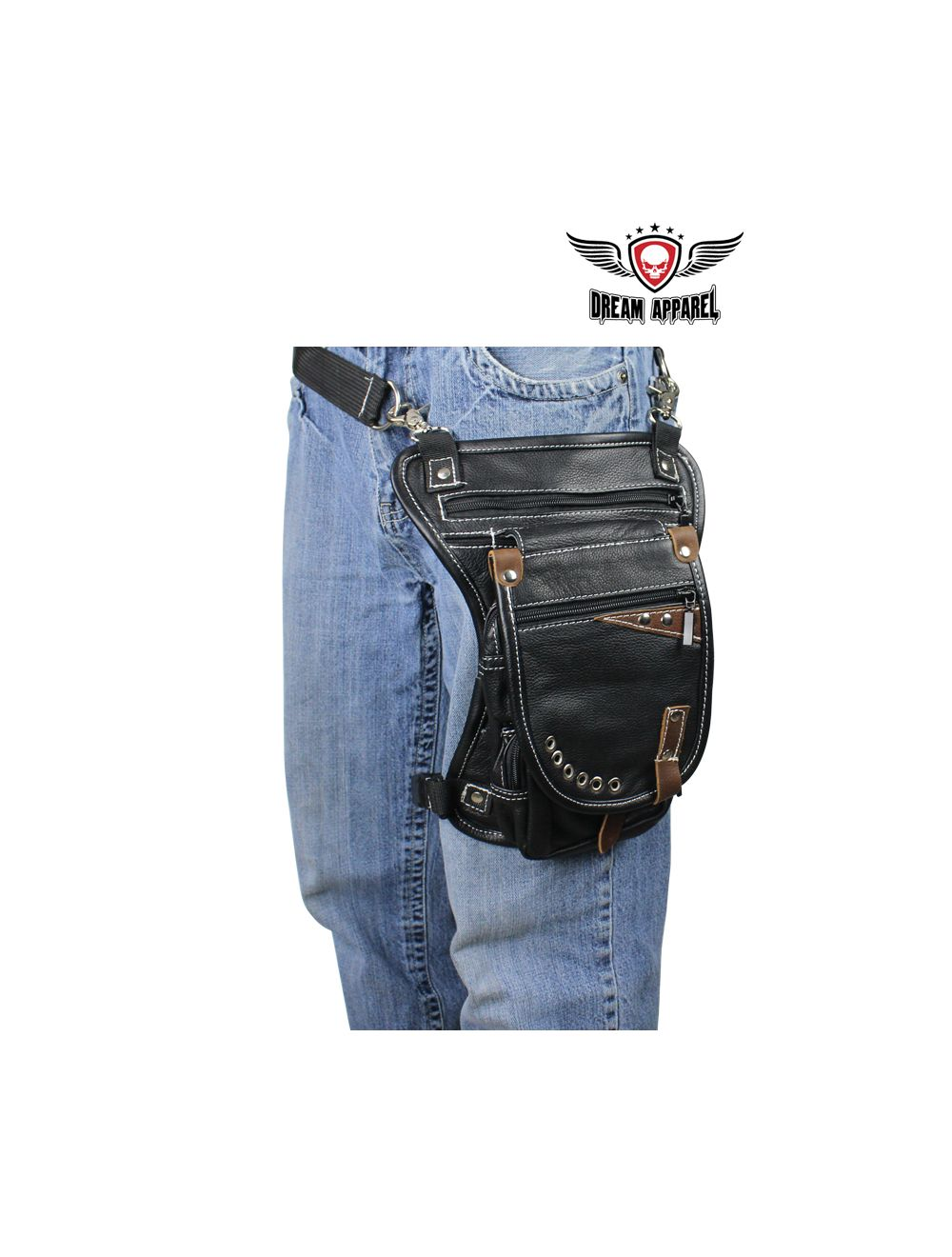 Pocket Motorcycle Chaps w/Snap Out Quilted Lining #