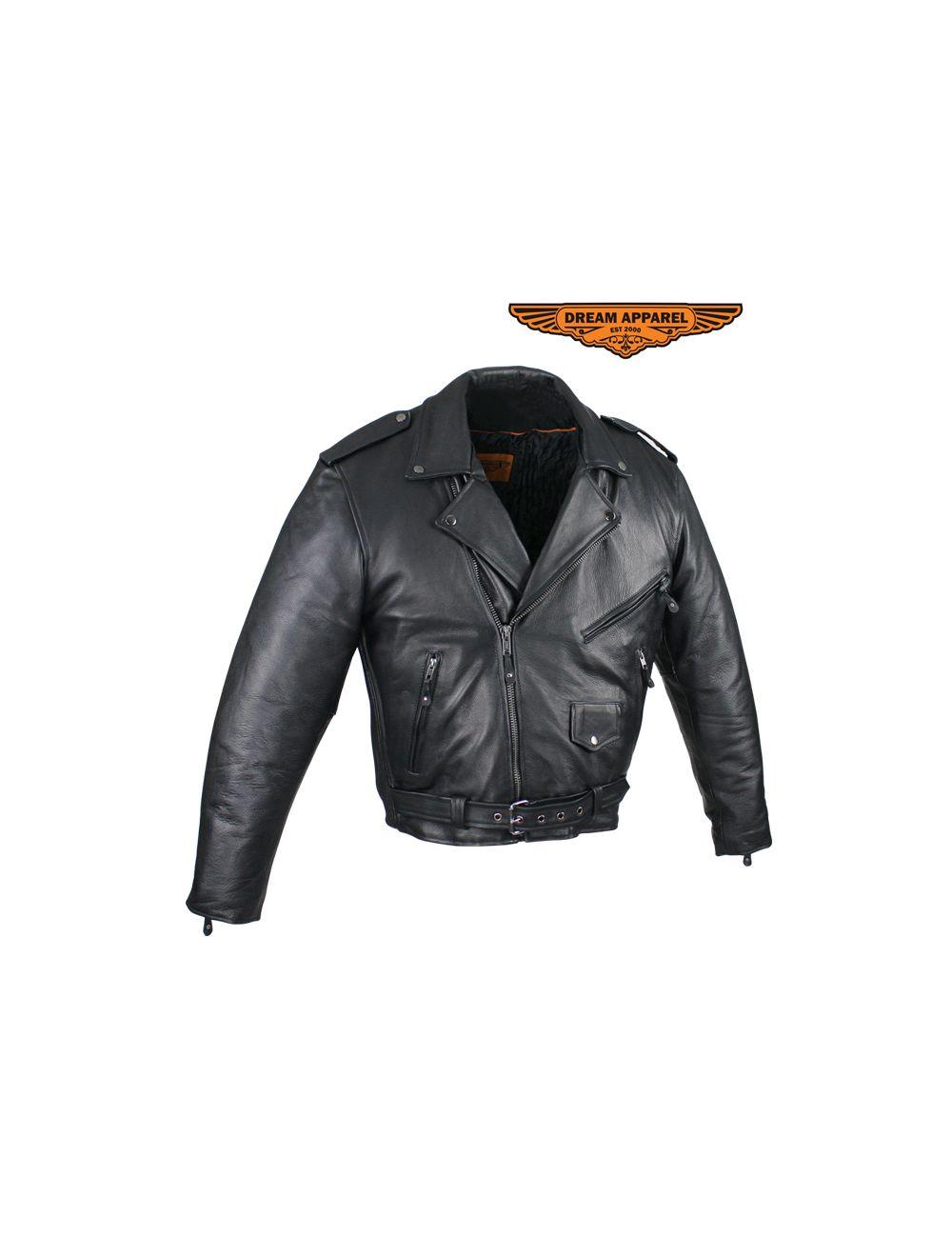 Naked Cowhide Leather Studded Thigh Bag W/ Gun Pocket - Black