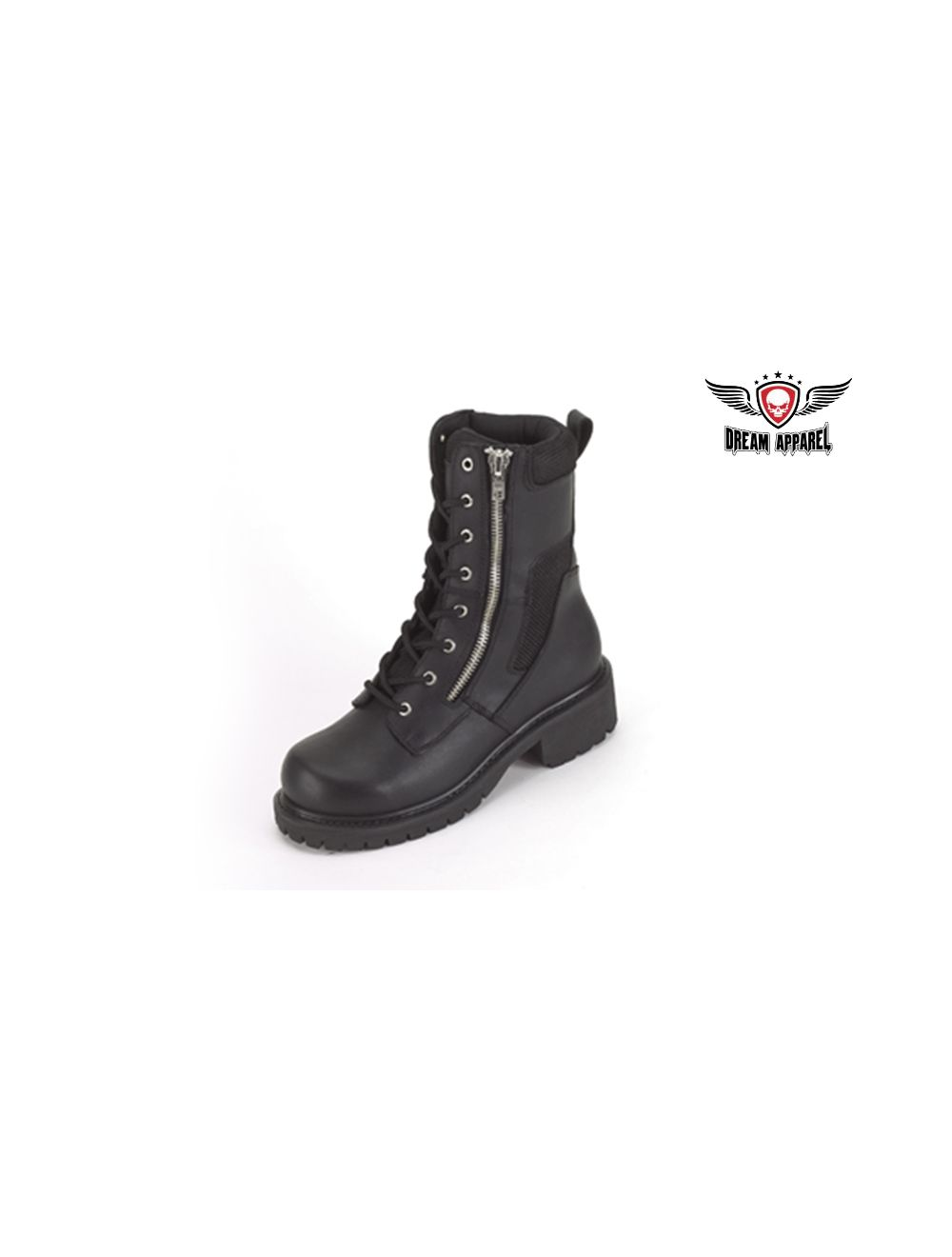 Men's Biker Boot with Lace Up Front and
